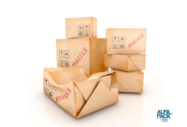 Embalaje multimaterial para el transporte y exportación de muebles Alfilpack