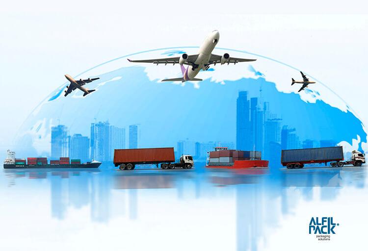 Embalaje multimaterial para el transporte y exportación de muebles alfilpack 1