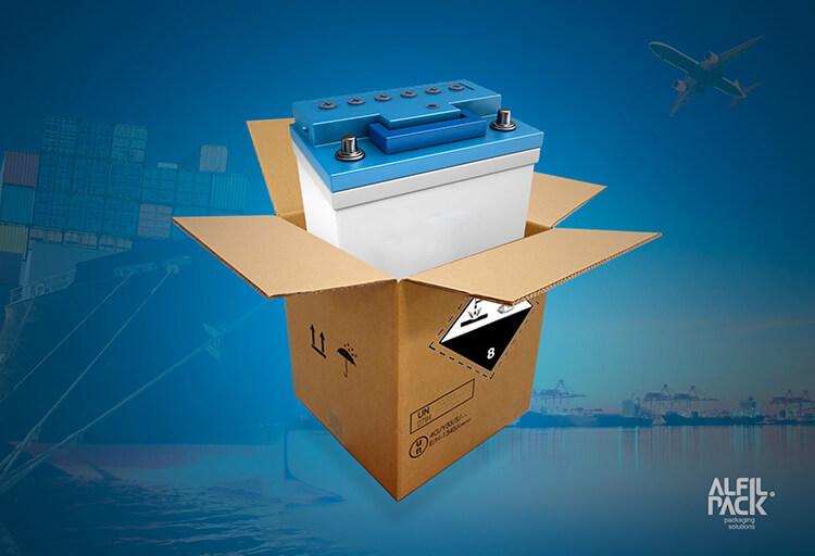 Embalaje para baterías de plomo ácido