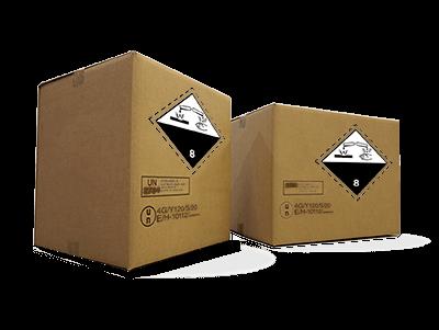 Embalaje homologado 4G para baterias de plomo acido