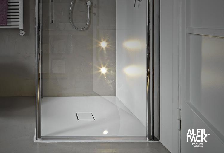Soluciones de embalaje para platos de ducha
