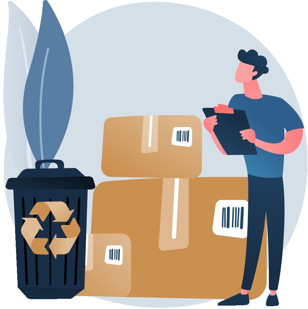 Logistica interna ahorro de material alfilpack